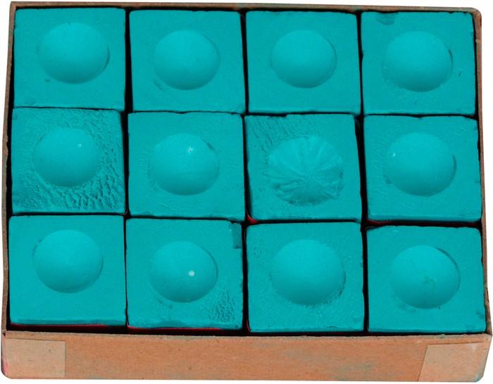 Krijt triangle groen 12 stuks per doosje brock biljartfabriek en amusement - Decoratie biljart ...