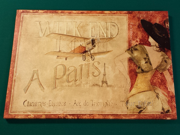 Wanddecoratie weekend a paris 71 x 51 cm brock biljartfabriek en amusement - Decoratie themakamer paris ...