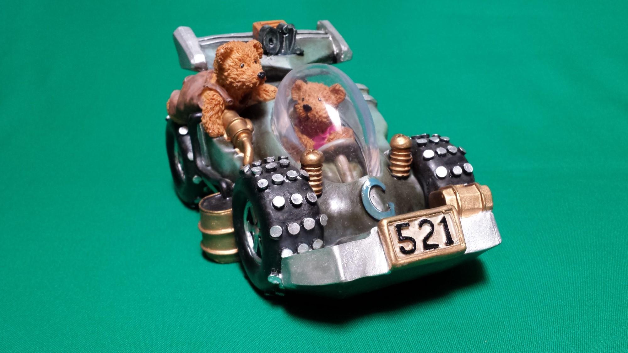 Spaarpot beren met race auto groot oil 521 ca 19 x 15 x 10 cm l x b x h brock - Decoratie biljart ...