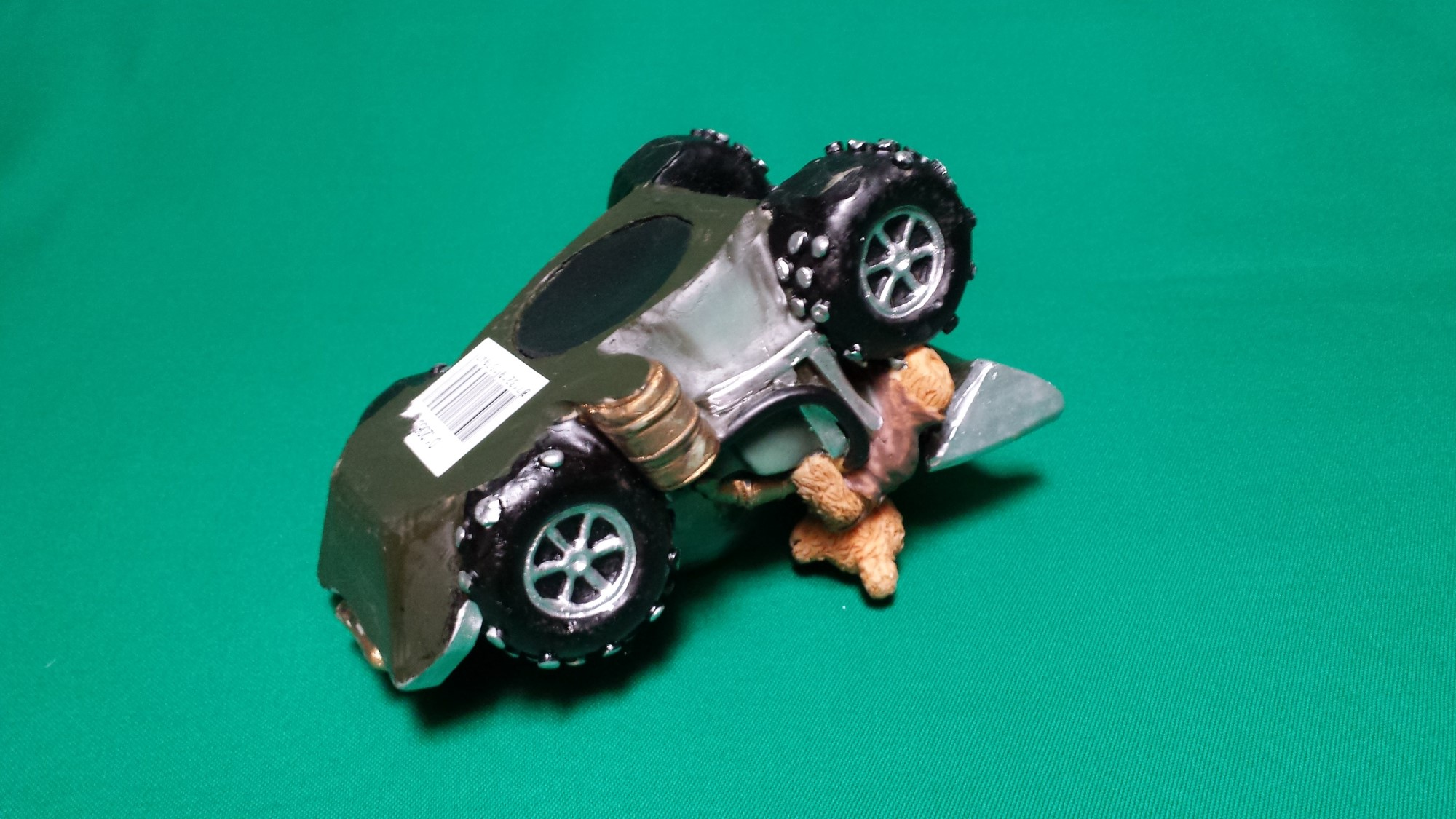Spaarpot beren met race auto klein oil 521 klein ca 13 x 9 x 8 cm l x b x h brock for Decoratie stuk om te leven